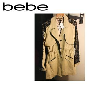 NWT BEBE trench coat, never worn, L